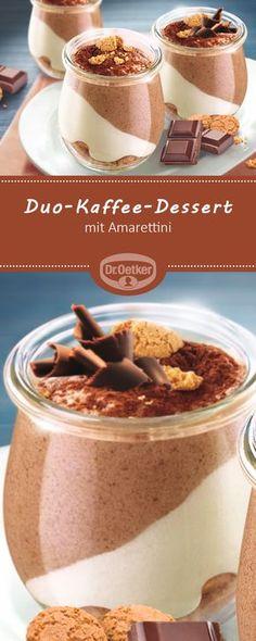 Duo-Kaffee-Dessert - Dessert mit Amarettini #rezept #kaffee #neu