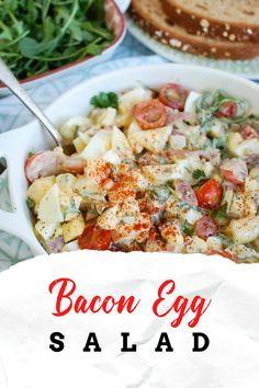 Pot Roast Recipes, Salad Dressing Recipes, Easy Salads, Healthy Salad Recipes, Side Dish Recipes, Lunch Recipes, Cooking Recipes, Easter Recipes, Turkey Bacon