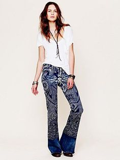 Free People Discharge Bali Flare OK, I thought I needed the others, but these I gotta have $128