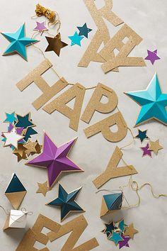 Happy New Year Garland | Anthropologie