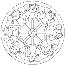 Foto: Mandala Coloring Pages, Colouring Pages, Coloring Books, Colorful Drawings, Colorful Pictures, Doodle Pages, Printable Adult Coloring Pages, Horse Crafts, Canvas Designs