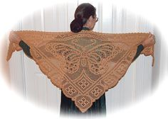 butterfly filet crochet shawl pattern