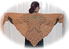 butterfly filet crochet shawl pattern