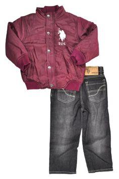 US Polo Toddler Boys Black Cherry Jacket 2Pc « Clothing Impulse