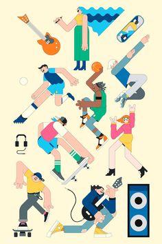 Office Routine Illustration Set on Behance Illustration Sketches, Illustrations And Posters, Character Illustration, Digital Illustration, Graphic Illustration, Character Sketches, Simple Character, Halloween Symbols, Free Hand Drawing