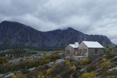 This family vacation cottage on a remote Norwegian island was modeled on traditional boat sheds. It has 3 bedrooms in 1,507 sq ft.   www.fac...