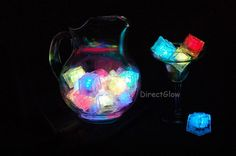 LED ice cubes- great for kids drinks at birthday party. my kids love to see the colors change in their water :)
