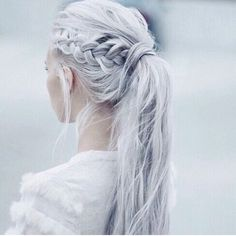 Always love anything silver/white with a little Khaleesi twist