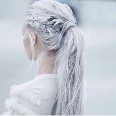 Always love anything silver/white with a little Khaleesi twist