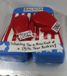 Pastel Rocky Balboa guantes box