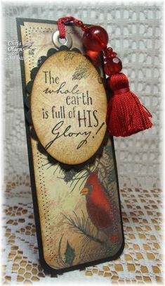 Sing For Joy bookmark by glowbug - Cards and Paper Crafts at Splitcoaststampers