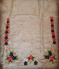 Embroidery Suits Punjabi, Embroidery Suits Design, Flower Embroidery Designs, Beaded Embroidery, Machine Embroidery Designs, Patiala Suit Designs, Kurta Designs Women, Kurti Designs Party Wear, Chudi Neck Designs