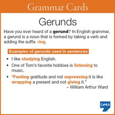 Do you know what a gerund is?