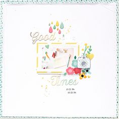 Great layout using white space and Pink Paislee's fabulous Hello Sunshine collection!