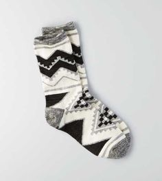 AEO Marled Geo Crew Socks - Buy One Get One 50% Off