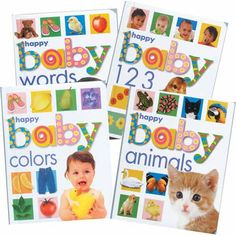 """Soft-Touch Concept Board Books - 28 pages each, set of 4 = normally $24, on sale for $12 - we found the """"words"""" one at The Book Thing"""