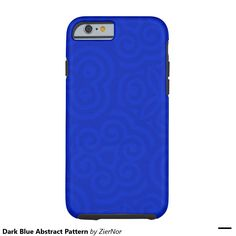 Dark Blue Abstract Pattern Tough iPhone 6 Case
