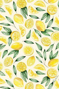 Frühling Wallpaper, Iphone Background Wallpaper, Surface Pattern Design, Pattern Art, Pattern Designs, Lemon Art, Frida Art, Cute Patterns Wallpaper, Floral Pattern Wallpaper