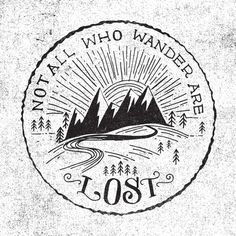 Not all who wander are lost print- looks amazing as a pillow