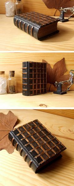 Dark Brown Leather Journal with Copper Latticework and Antiqued Pages. The Passage.. $180.00, via Etsy.