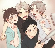So pretty & cute ♥ Third year setters - Oikawa Tooru, Semi Eita, Sugawara Koushi, Akaashi Keiji