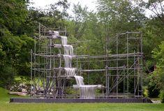 Olafur Eliasson Waterfall installation at the Hall Art Foundation  Artist/Designer: Olafur Eliasson