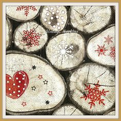 SALE *** TWO Paper napkins for DECOUPAGE- Christmas Snowflakes Wood C061 by…