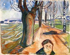 Intercepted by Gravitation   Edvard Munch Murder on the Road 1919