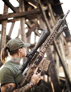 BADASS CHICK WITH GUNS @aegisgears