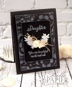 Chalkboard Beautiful Daughter card by Julia Stainton for Ellen Hutson LLC - blog hop & giveaway