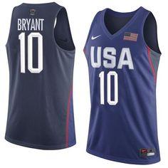 sale retailer 2c227 a7160 Nike Team USA  10 Kobe Bryant Navy Blue 2016 Dream Team Game NBA Jersey