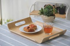 Food Serving Tray With Hand Rectangle Butler Tray Bamboo Bent Wood Platter Dishes Tea Breakfast Tray Coffee Tray Hotel Tray Serving Trays With Handles, Food Serving Trays, Serving Tray Wood, Wood Cutting, Cutting Board, Personalized Cheese Board, Meat Fruit, Butler Tray, Coffee Tray