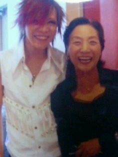 Kai. His lovely mother. The GazettE.