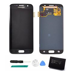 KRNET LCD AMOLED Display Touch Screen Digitizer Assembly for Samsung Galaxy S7 SM G930 G930F G930A G930V G930P G930T G930R4 G930W8 Black Onyx  Tools -- You can find out more details at the affiliate link of the image. Black Onyx, Galaxy S7, Samsung Galaxy, Cracked Screen, Cheap Accessories, Technology Gadgets, Tool Set, Cell Phone Accessories