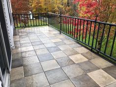 🍁Fall is in the air!🍂 The beautiful tones of the DekTek Tile deck contrast perfectly with the Autumn leaves. 🍁 . 📸 Deck shown in Pecan Medley - Elevate Collection . 🔨 DIY project, deck tiles installed on steel joists. Visit dektektile.com to learn more about our amazing concrete decking option! . #dektektile #decking #concretedesign #backyarddeckdesigns #deckbuildingideas #deckbuilding #homerenovationideas #diyproject #concretetile #outdoorlivingspace #concreteflooring #concretepatio #