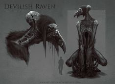 Devilish Raven, Adrian Biłozór on ArtStation at https://www.artstation.com/artwork/NQOdb