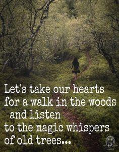 Vamos a tomar nuestros corazones para un paseo en el bosque y escuchar los susurros mágicos de los árboles viejos ... THE FOREST AND THE WILD WOMAN <3