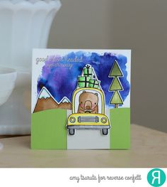 Card by Amy Tsuruta. Reverse Confetti stamp set: Bearing Gifts. Confetti Cuts: Bearing Gifts. RC cardstock: Lime Green and Stone. RC 6x6 paper pad: Warm Heart. Friendship card. Encouragement card.