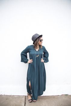 Bohemian long sleeve maxi dress | bohemian style