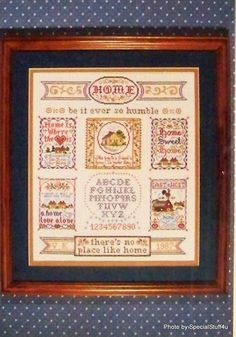 Cross Stitch Pattern Heirloom Samplers Vera K Klein - There's No Place Like Home