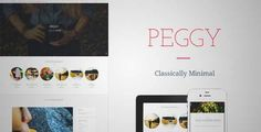 Download and review of Peggy - A Responsive WordPress Blog Theme, one of the best Themeforest Magazine & Blogs themes