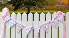 Super cute baby bump photos!  Pink and gray chevron banner for your maternity shoot!  Visit www.darlinginpink.etsy.com to see more designs!  Pregnancy & Baby's First Year Pennant Banner / Newborn Monthly Photo Prop / Pink and Gray Chevron / Custom Baby Shower Decor / Countdown