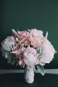 Soft pink & ivory wedding bouquet   Breathtaking Italian Wedding At Picturesque Villa Cimbrone   Photograph by Gianni di Natale Photographer http://storyboardwedding.com/italian-wedding-villa-cimbrone/