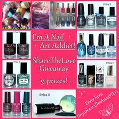 I'm A Nail Art Addict!: #ShareTheLove Giveaway!!! ♥