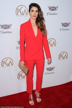 Red hot! Nikki Reed, 29, was spotted at the 2018 Producers Guild Of America Awards in Los Angeles on Saturday