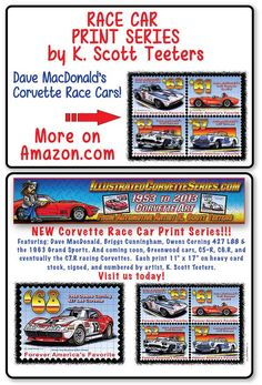 Online shopping from a great selection at K. Corvette History, Car Prints, Automotive Art, Postage Stamps, Division, Race Cars, Success, Racing, Corvettes