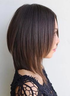 A mid length trim is with strong layers