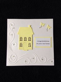 Handmade new home card. Can be made in any colour to suit your specifications £2.30 + £1.00 p&p visit www.facebook.com/robinsmythcreations