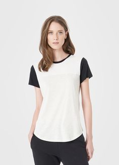 Colorblock Shirt Tail Tee | Vince