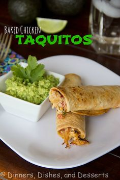 Baked Chicken Taquitos   Dinners, Dishes, and Desserts - Part 1